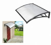 BLACK DOOR CANOPY AWNING SHADE SHELTER ROOF PORCH RAIN SUN COVER OUTDOOR